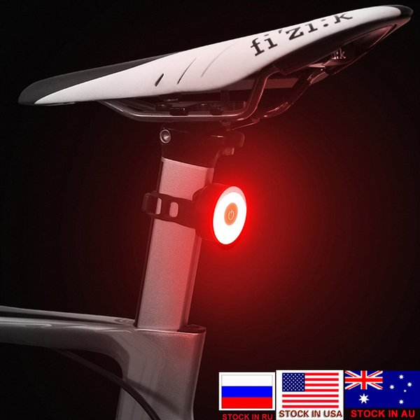Bike Tail Light USB Rechargeable With 5 lighting Modes- High Intensity LED Light Bicycle Safety Lamp Fits on Road Bikes, Helmets