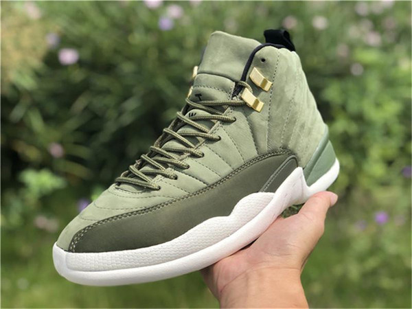 detailed look 82b4a 06b31 2019 New 12 Graduation Pack Cp3 12S Chris Paul Class Of 2003 Men Basketball  Shoes Olive Canvas Suede 130690 301 Carbon Fiber Running Shoes From ...