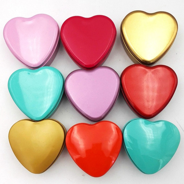 Heart Shape Metal Tin Candy Box Hearted-Shape Wedding Favor Gift Favors Wedding Party Free Shipping wen5851