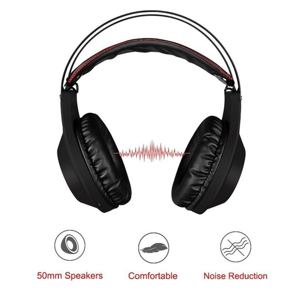 3.5mm Wired Gaming Headset Stereo Gamer Headphones Super Bass Earphone with Noise Reduction Mic Mute Volume Control for Xbox One PS4 PC