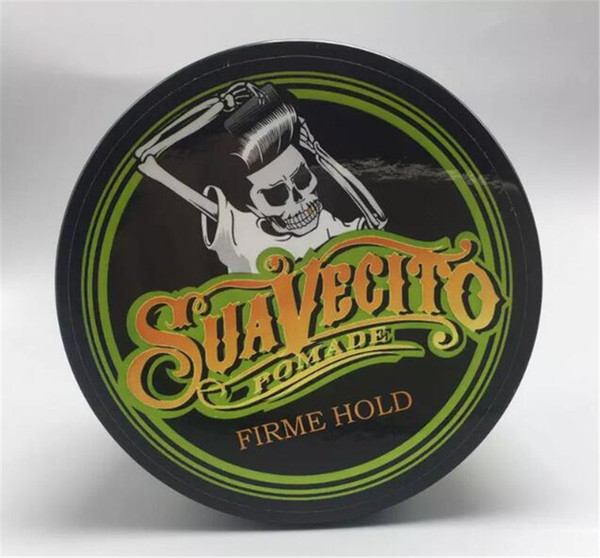New arrival Suavecito Pomade Firme Hold Crystal Green Strong style restoring Pomade wax big skeleton slicked back hair oil wax DHL