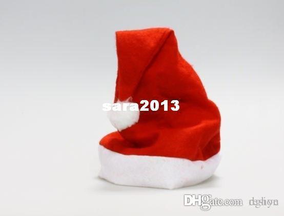Min Order $20 (mixed order) Retail Non-Woven Cloth Christmas Cap / Santa Claus Xmas Hat (SE-28)