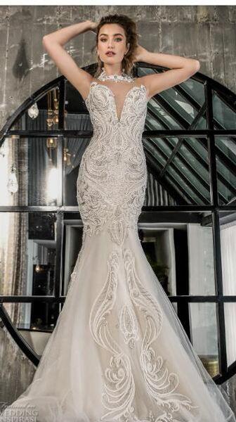 2019 luxury wedding dress high-end Gorgeous wedding dresssA lineSoft gauze, passion elegant, embroidery handmade