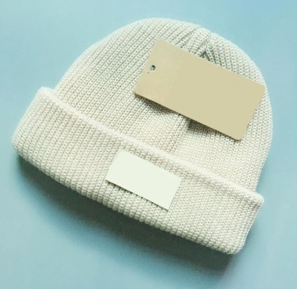 2018 New Brand Luxury Children Winter Knitted Beanie Fashion Designer Warm Wool Cap Kids Folds Casual Hat