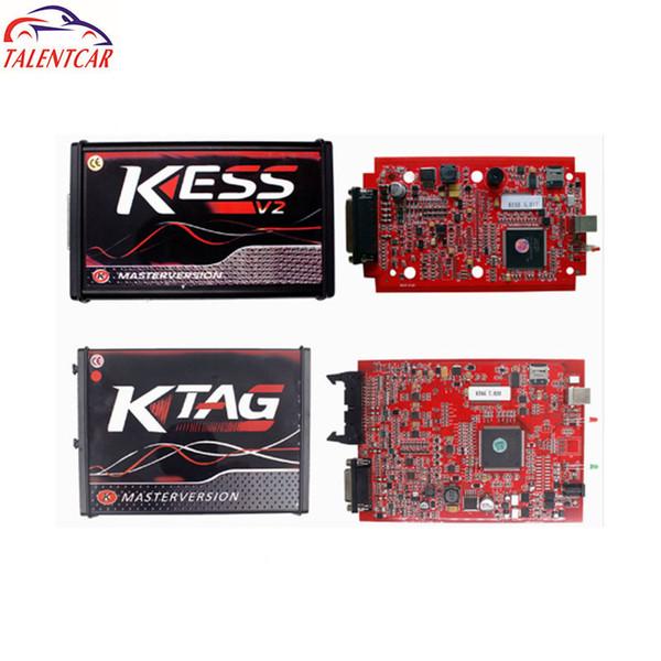 Online EU V5 017 Kess V2 5 017 OBD2 Manager Tuning Kit Red KTAG V7 020 No  Token K TAG 7 020 Master V2 23 ECU Programmer Code Reader Website Diagnosis