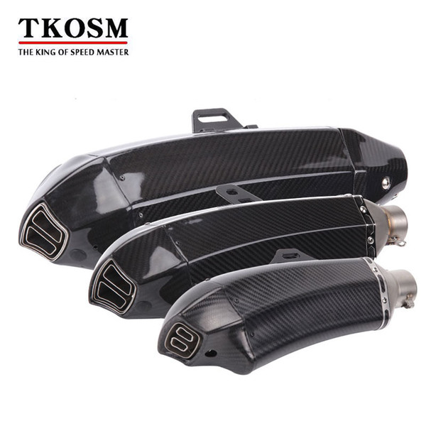 TKOSM Universal Akrapovic Motorcycle Modified Exhaust pipe For Yamaha R125 YZF R15 YZF R25 R3 MT-02 MT-25 R1/R1M MT-01