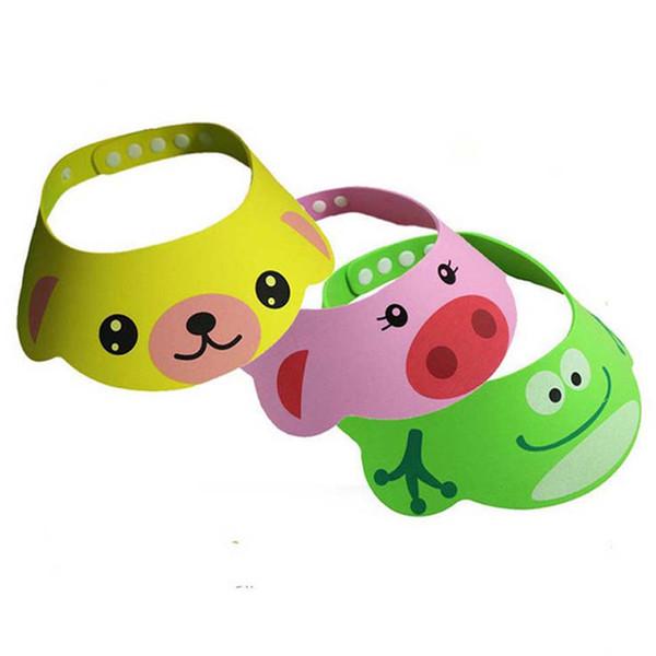 1 PC Fashion Adjustable Soft Baby Kid Child Safe Shampoo Bath Shower Cap Hat Wash Hair Eye Shield YYT306