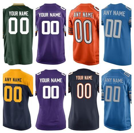 new styles c9a31 63d16 2018 Custom Minnesota Detroit Bears Lions Vikings Packers American Football  Jerseys Authentic Factory Soccer Sports Salute Service Jersey Cheap From ...