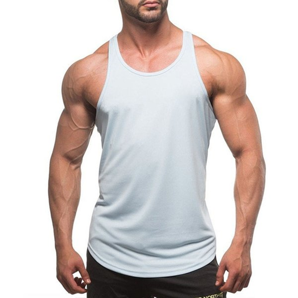 T-Shirts Compression Running Vest Man Training Sleeveless Shirts Workout Sport Suit Fitness Tights High Elastic Quick Dry Gym Tank Top