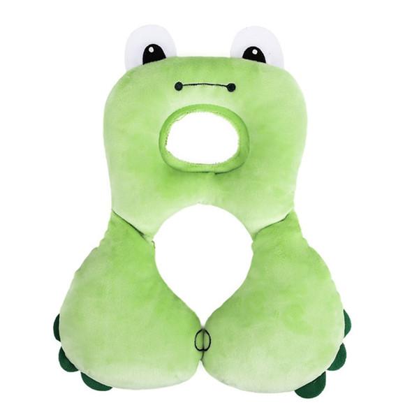 Cute Animal Design Baby Kids U-shaped Pillow Car Safety Seat Cushion Travel Pillow For Newborn