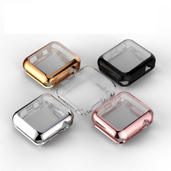 2018 New Screen Protector All-Purpose Plating TPU Case iWatch1/2/3 Cover
