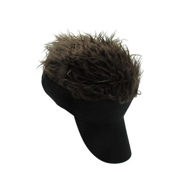 Baseball Cool Outdoor sport Men Sport Tennis Cap Fake Flair Hair Sunshade Cap Male Wig Funny Hair Loss Cool Gifts