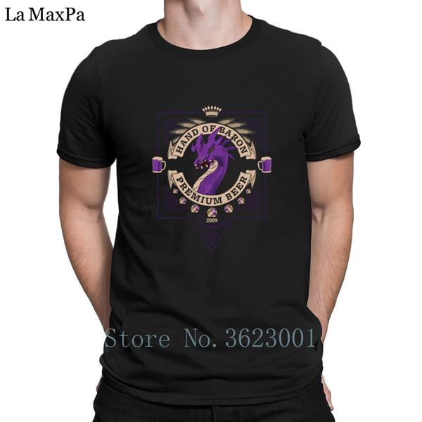 Designer de Cartas dos homens Tshirt Mão de Baron Camiseta Masculina Casual Hilariante T Shirt Tee Tops T-Shirt Streetwear manga curta