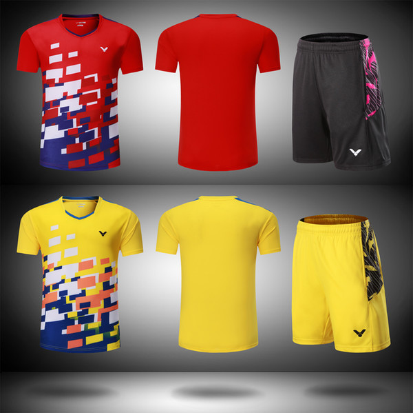 best selling New 2018 Victor badminton wear t-shirt,Malaysia Competition badminton Clothes Men women Clothes jersey Quick-drying table tennis shorts