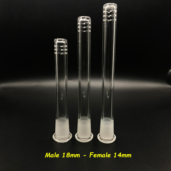 Glass Downstem Diffuser 14mm to 18mm Male Female Joint Glass Down Stem For Glass Bongs Water Pipes Dab Rigs