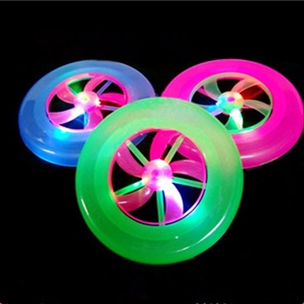 HOT Colorful Frisbee UFO Kid Toy Spin LED Light Outdoor Toy Flying Saucer Disc Educational UFO Children Beach toys Sports