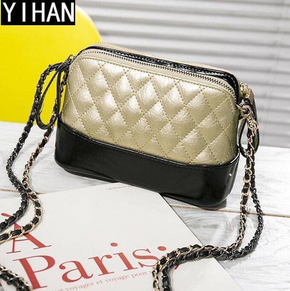 Factory wholesale brand handbags hit color small incense wind bag fashion leather chain bag cute Lingge leather Messenger shoulder bag