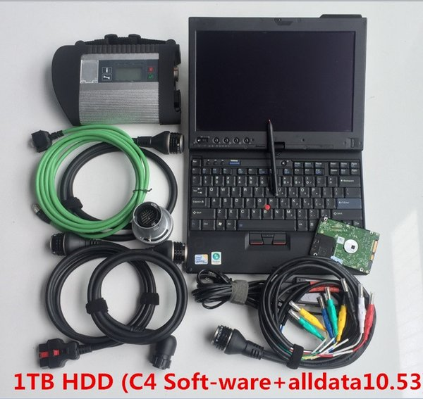 2019 mb star c4 and alldata 10.53 hdd 1tb installed well in computer x200t laptop ready to use diagnostic tool best