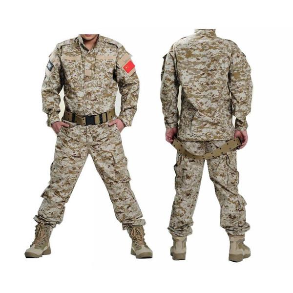 Armee Uniform Tactical Shirt + Hosen Camo Camouflage ACU Kampfuniform Kampf Jagd Männer Kleidung Anzug