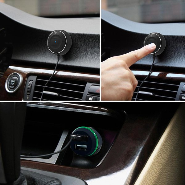 Handsfree Bluetooth 4.0 Car kit with NFC Function +3.5mm AUX Receiver Dual USB 2.1A Music Receiver Speakerphone Car Charger