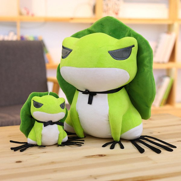 Frogs Travel Plush Toys Stuffed PP Cotton 4 Size Back Lotus Leaf Frenulum Green White Super Soft Dolls Popular Game Baby Birthday Gift
