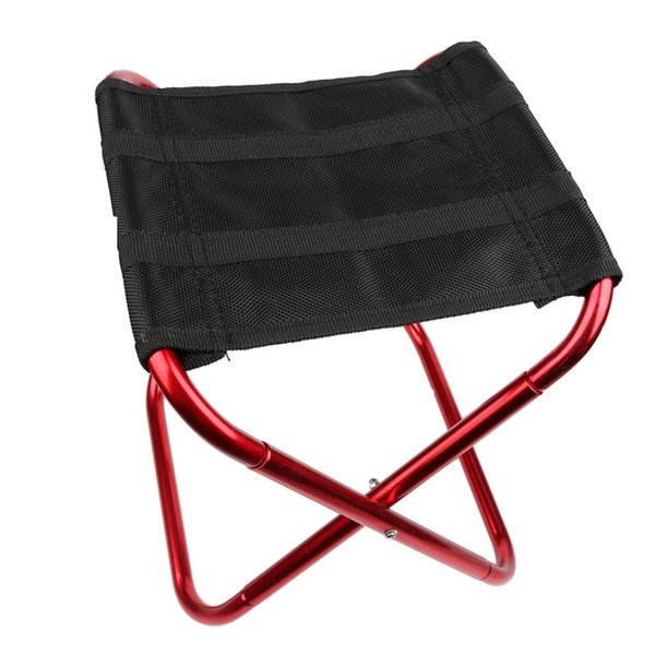 Wholesale- Portable Folding Chairs Aluminium Alloy Outdoor Picnic Camping Hiking Fishing BBQ Garden Stool Foldable Chair Seat