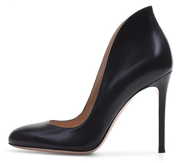 Women Basic Round Toe High Heel Pumps Black Court Shoes Stylish Dress Heels Ladies Classic Heeled Party Shoes 2018 Plus Size