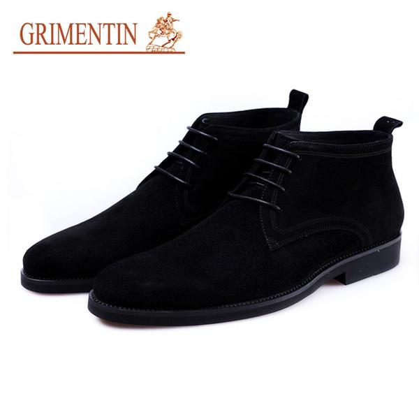 Business Formal Heißer Stiefeletten Grimentin Italienische Wildleder Großhandel Braun Verkauf Schnüren Modemarke Herren Männer Schwarz Schuhe Neueste 0m8nywvNO