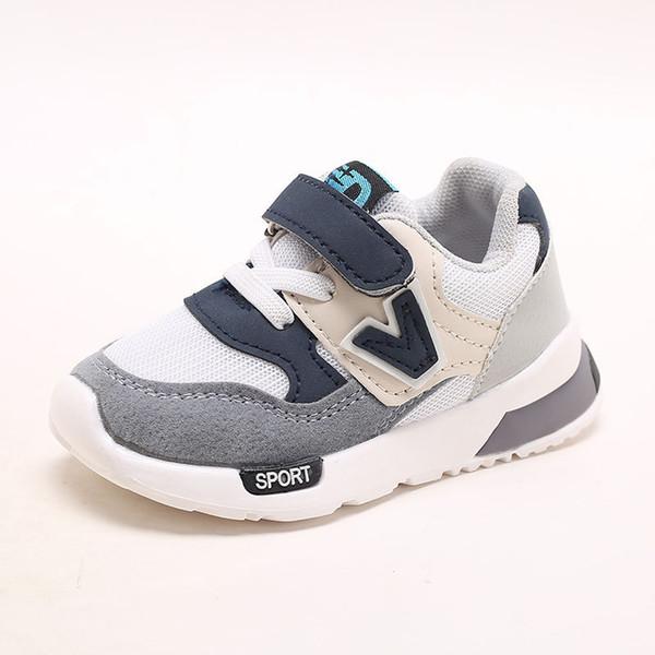 2018 HookLoop ventes chaudes bébé chaussures respirant casual bébé chaussures de haute qualité filles garçons sneakers mignon Lovely bambins