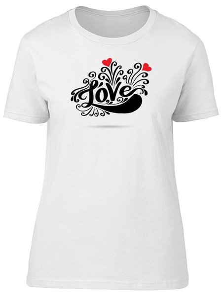 Love Lettering With Heart Women's Tee -Image by Shutterstock