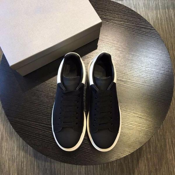 Yeni stil 2018 bahar kalın deri alt Kore versiyonu 100 nedensel beyaz ayakkabı yaz yüksek kaliteli kadın ayakkabı siyah ve beyaz