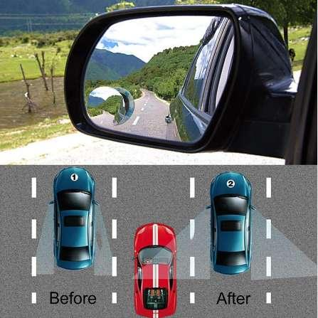 Onever HD 360 Degree Wide Angle Round Convex Car Vehicle Mirror Blind Spot Auto Rear View Parking Mirror For All Car