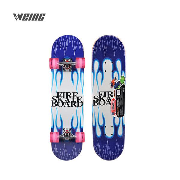 WEING четыре раунда младших начинающих кисти вокруг высокого качества древесины личности скейтборд