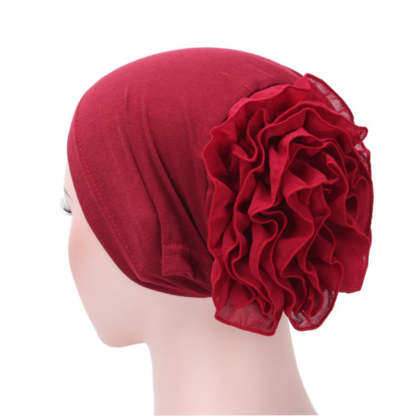 Muslim Headscarf Pile Heap Cap Women Soft Comfortable Hijab Caps Islamic Chemotherapy Hat