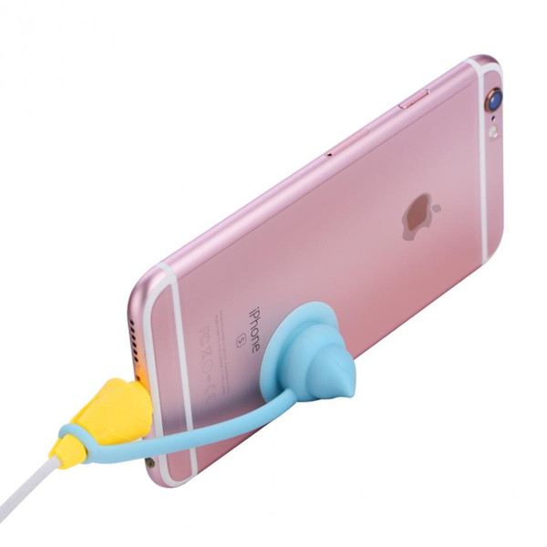 5Pcs Ice Cream Shape Cable Protector Wire Cord Saver Protector Cover For iPhone 5 5S 6 7 Plus Charging Cable Earphone Universal