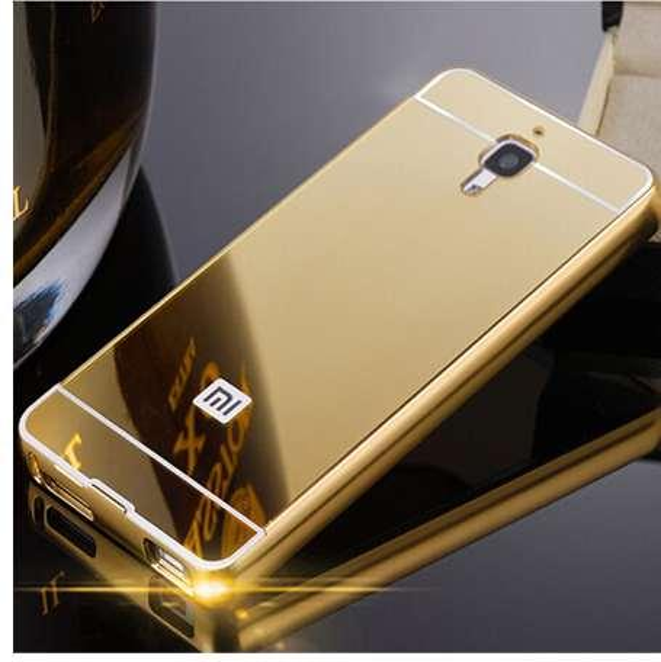 For Xiaomi 4 Mi4 case Luxury Aluminum Metal Mirror Acrylic Back Cover For Xiaomi 4S Mi4C M4I Mi 4 Cell Phone Case
