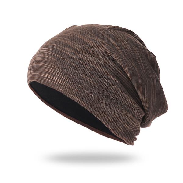 Men Women Beanie 2018 Winter Hats Striped Baggy Cotton Casual Head Winter Cap Beanie Czapka Zimowa Bonnet Femme