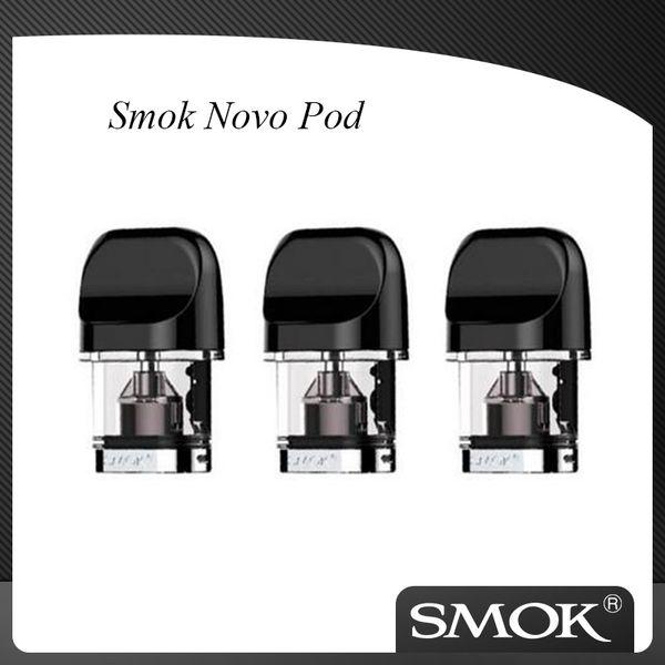 100% autêntico SMOK Novo substituição 1.2ohm 1.5ohm Nic Sal Pod Cartucho de 2 ml para Smok Novo Aio kit de arranque 3 peças cada bloco