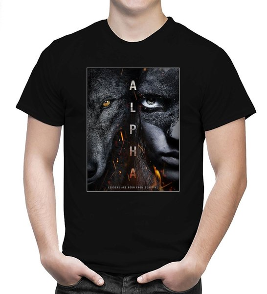 Alpha Movie Poster T Shirt American Adventure Film 2018 Men T-Shirt Size S-5XL hip hop funny tee mens tee t-shirt custom printed t-shirt