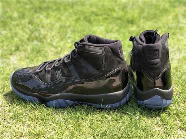 Best 2018 11 Prom Night Blackout 11S Basketball Shoes For Men Authentic Real Carbon Fiber Sports Sneakers With Box 378037-005
