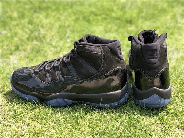 Les meilleures chaussures de basket-ball 2018 11 Prom Night Blackout 11S pour hommes Authentiques baskets de sport en fibre de carbone avec boîte 378037-005