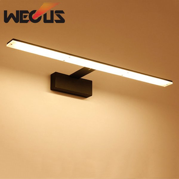 2019 Nordic Led Bathroom Lights Black White Vanity Mirror Light Fixtures Barbershop Hotel Cabinet Wall Lamp 42cm 9w From Alluring 42 73 Dhgate Com