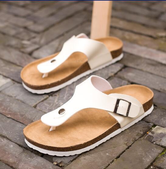 Lotus Jolly Tongs 2017 Été Doux Liège Glisse Pantoufles Femmes Amoureux Casual Chaussures De Plage Sandalias Zapatos Mujer