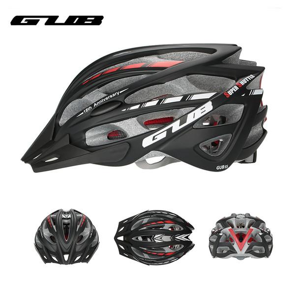 GUB Integral geformten Fahrrad Fahrradhelm Visor Männer Frauen MTB Mountain Road Bike Helm 57-61 cm 30 Vents Fahrrad Zubehör