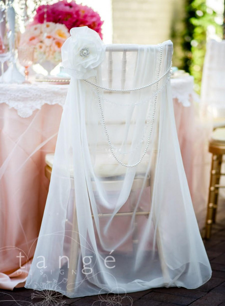 Şifon Inciler El Yapımı Çiçek Kristal Yeni Varış Romantik Güzel Düğün Evens Düğün Malzemeleri Sandalye Kanat