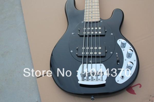 Wholesale 5 strings bass Black Music bass stingray electric bass HOT free shipping2018