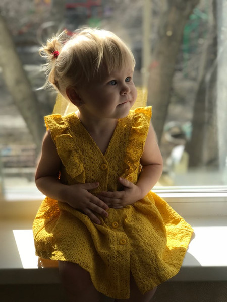 Casual Dresses Girls Dresses 2018 New Summer Brand Kids Princess Dress Cute Embroidery Bow Design for Girls 1-6Y Children Clothes