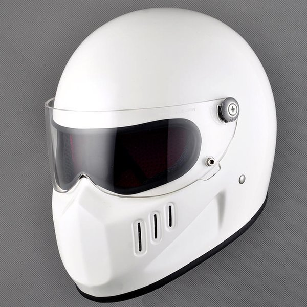 TTCO Thompson Ghost Ritter Retro Harley Vollgesichts Motorrad Helm Glasfaser Vintage Motorrad Racing Helme DOT genehmigt