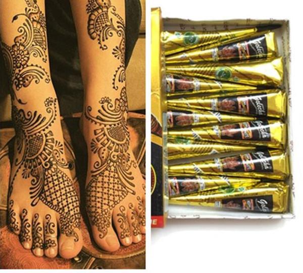 Pâte de tatouage au henné indien naturel noir pour le dessin du corps