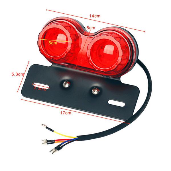 Motorcycle Turn Signal Brake Led Light License Plate Holder Tail Lights LED Brake Tail Lamps For Harley Bobber Cafe Racer ATV